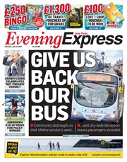 Evening Express latest cover