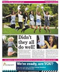 GCSE and A-level results supplement front page