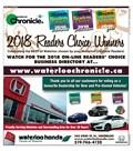 2018 Waterloo Readers' Choice Winners