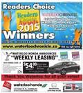 2015 Waterloo Readers' Choice Winners