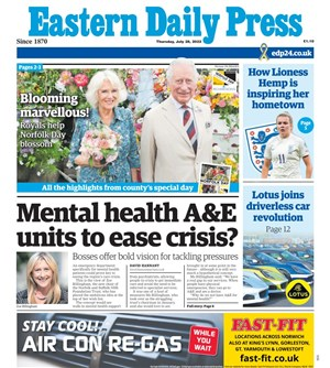 Eastern Daily Press Newspaper Cover