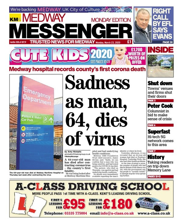Medway Messenger (Monday)